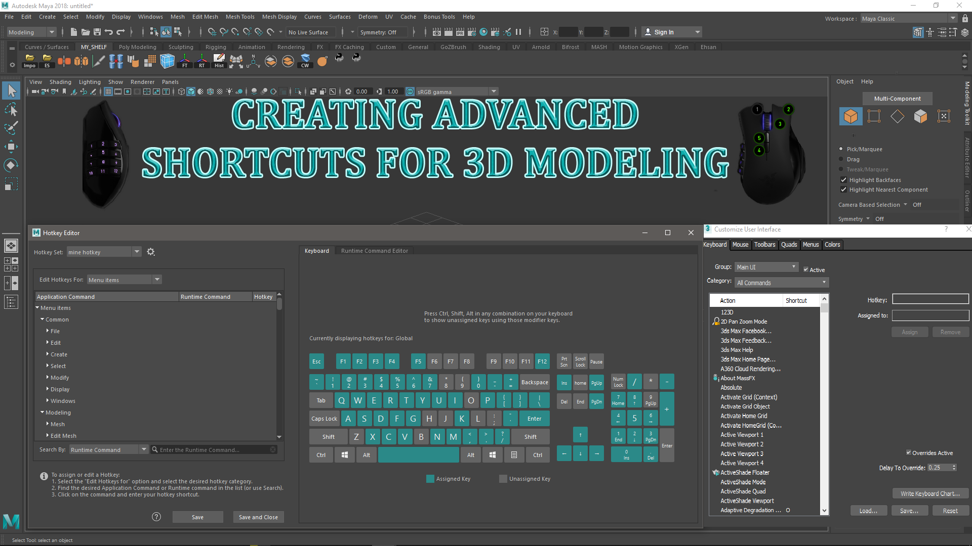 CREATING ADVANCED SHORTCUTS FOR 3D MODELING